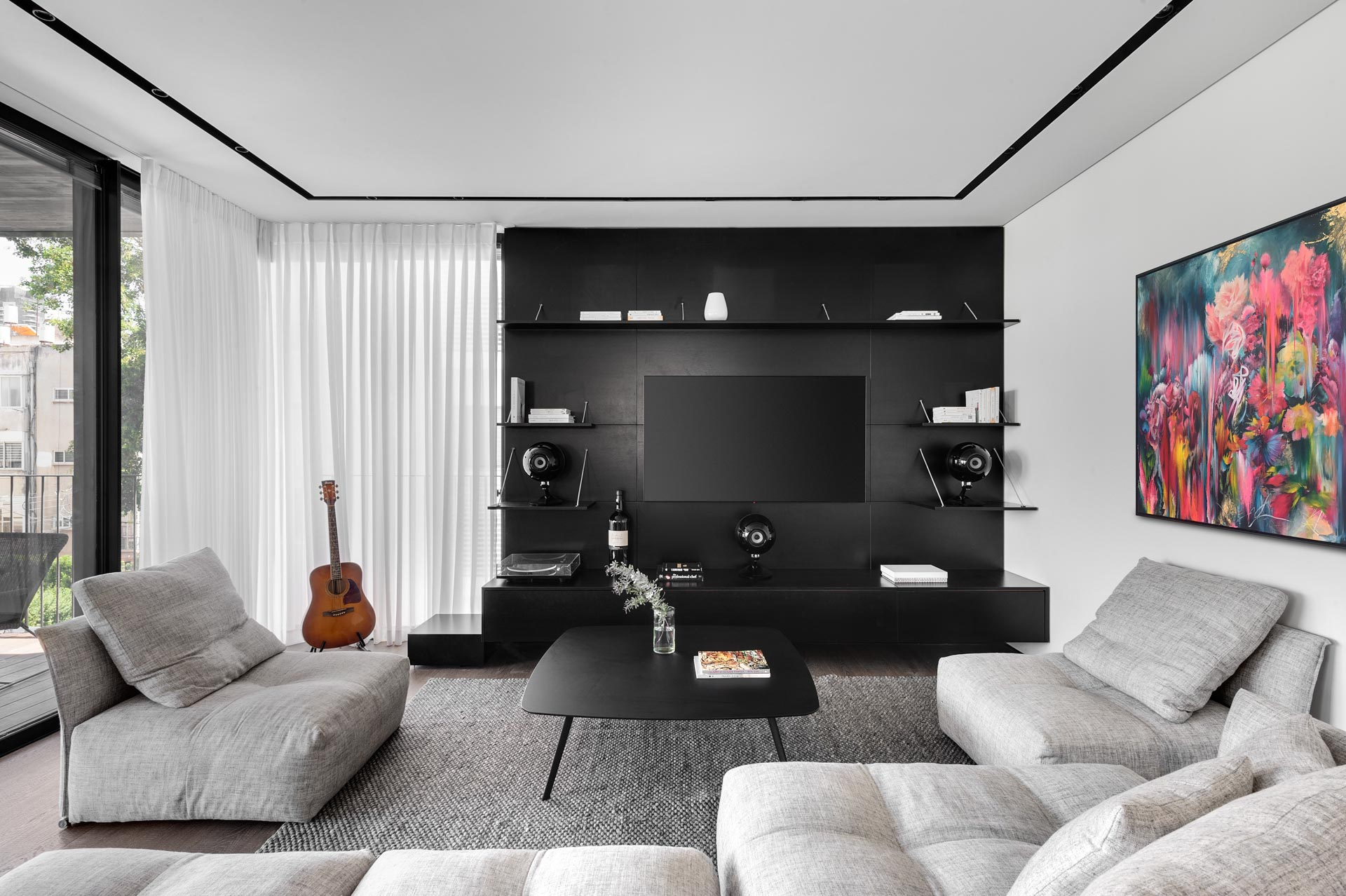 Chic living room with Television